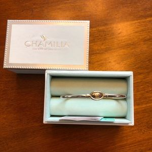 Chamilia sterling silver bangle-style bracelet